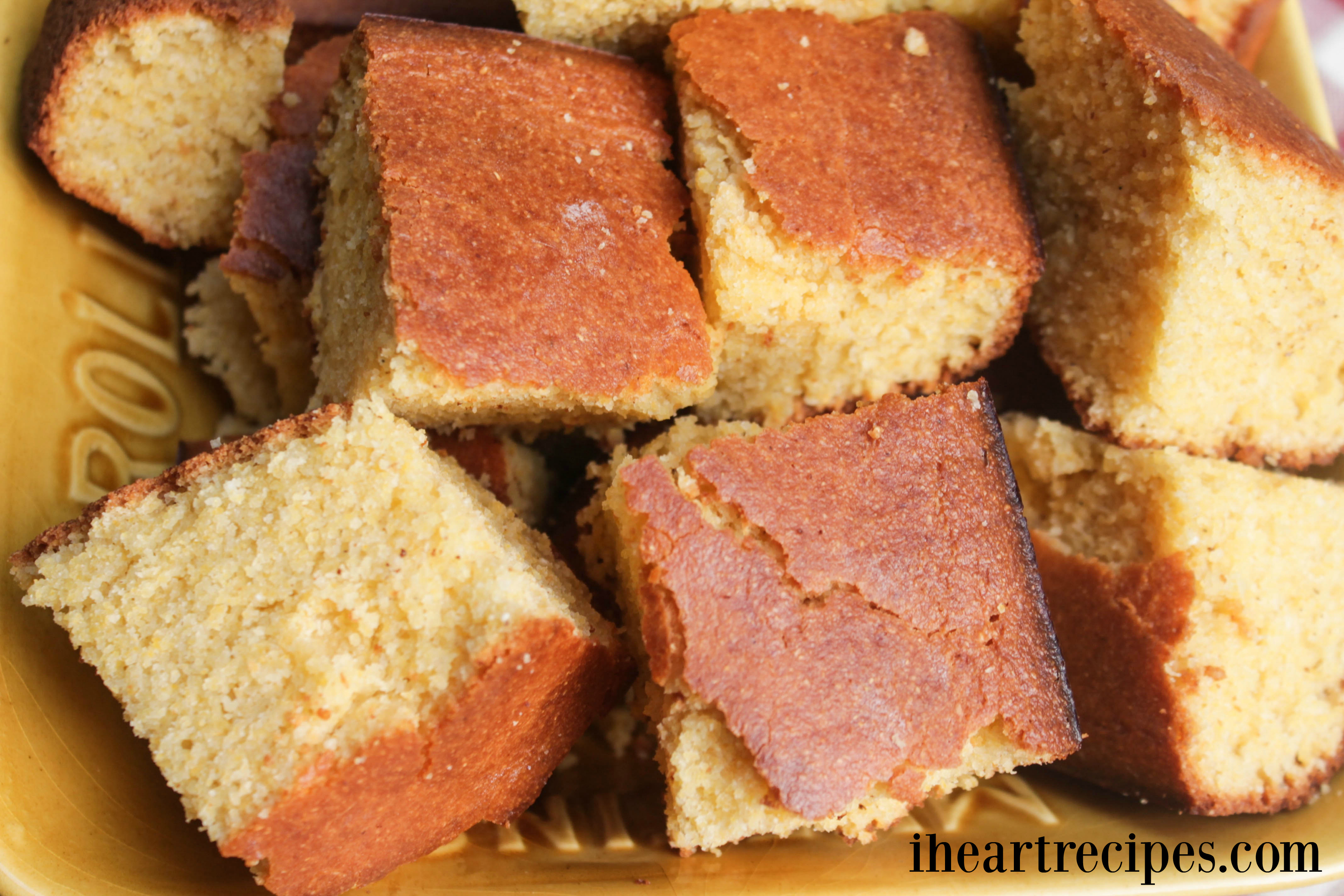 Moist and delicious southern style cornbread goes perfect with butter, collard greens, mashed potatoes... anything!