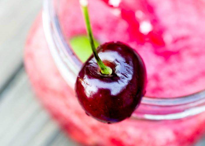 Cherry Lime Vodka Slushie