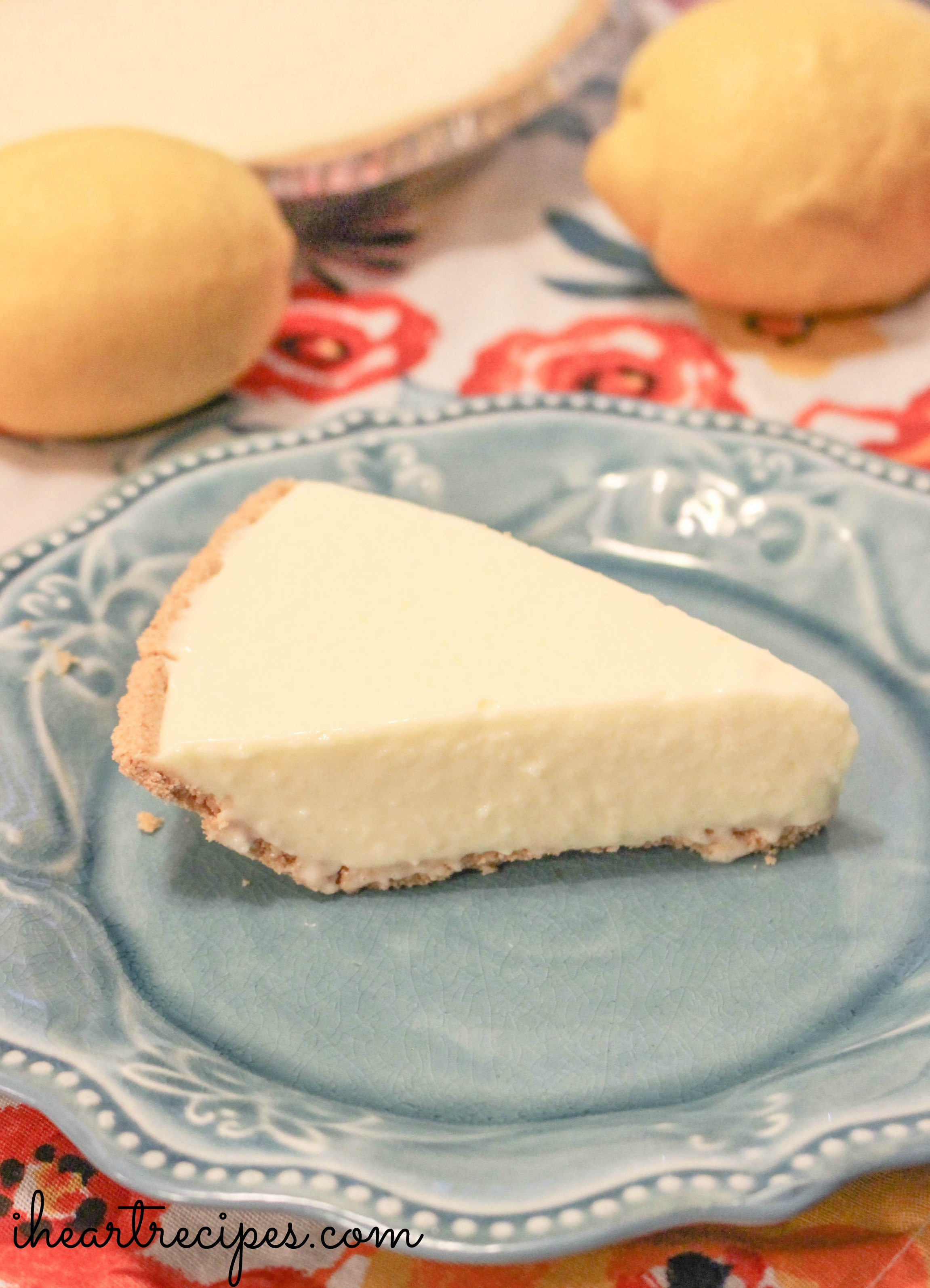No Bake Lemon Cheesecake | I Heart Recipes