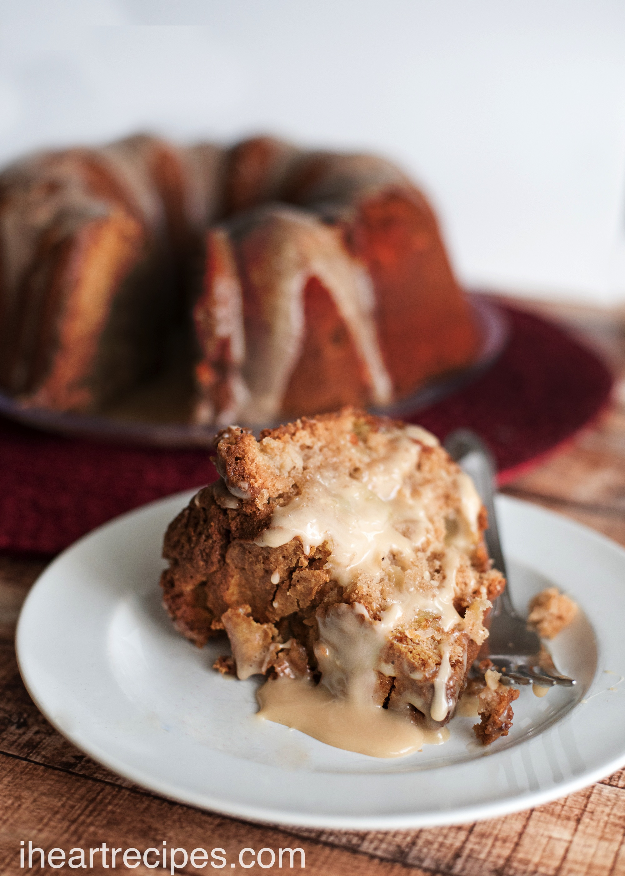 Fresh Apple Cake with Maple Glaze | I Heart Recipes