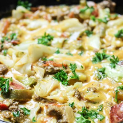 Cheesy Cabbage Creole