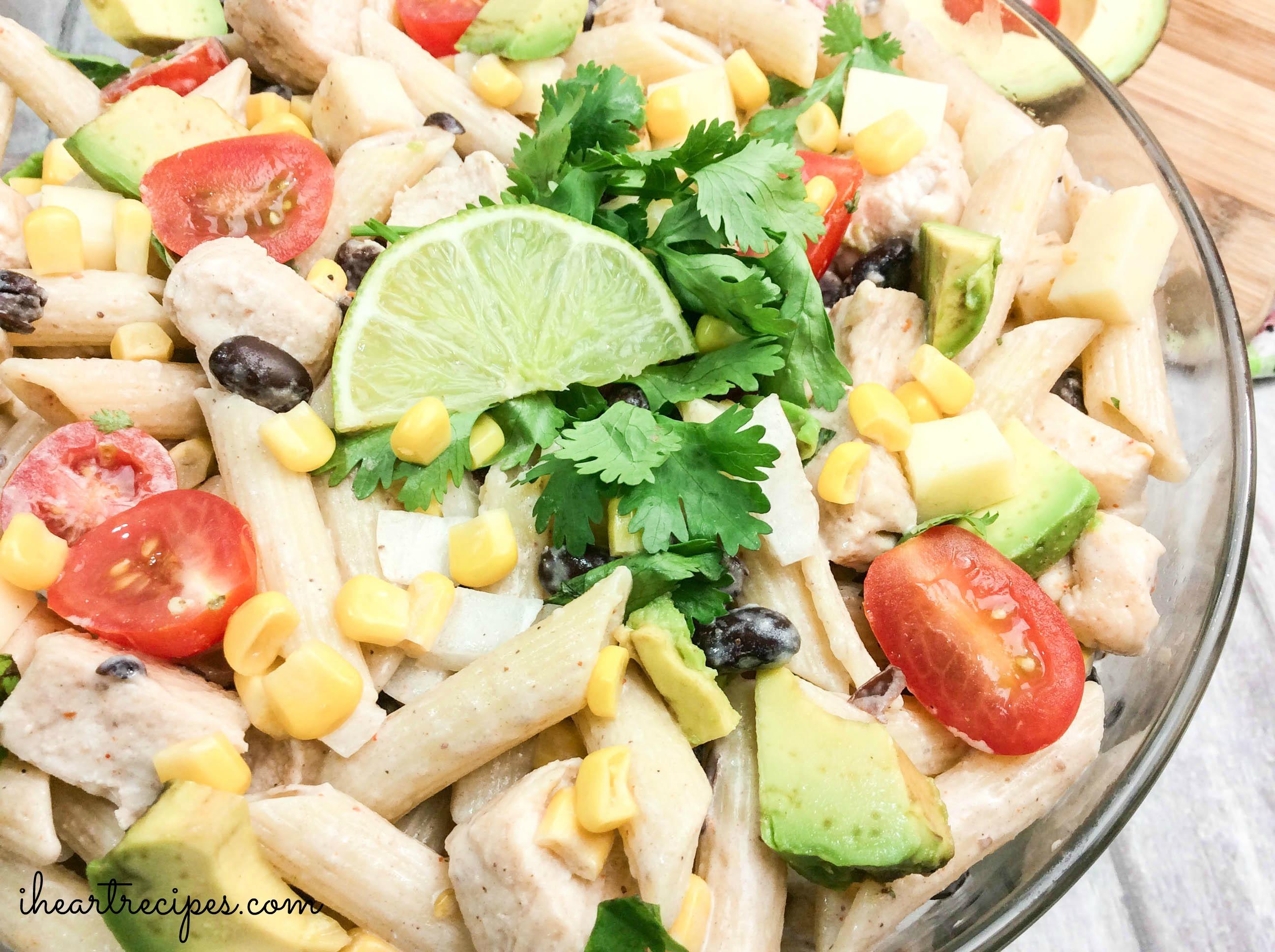 Cilantro Ranch Pasta Salad | I Heart Recipes
