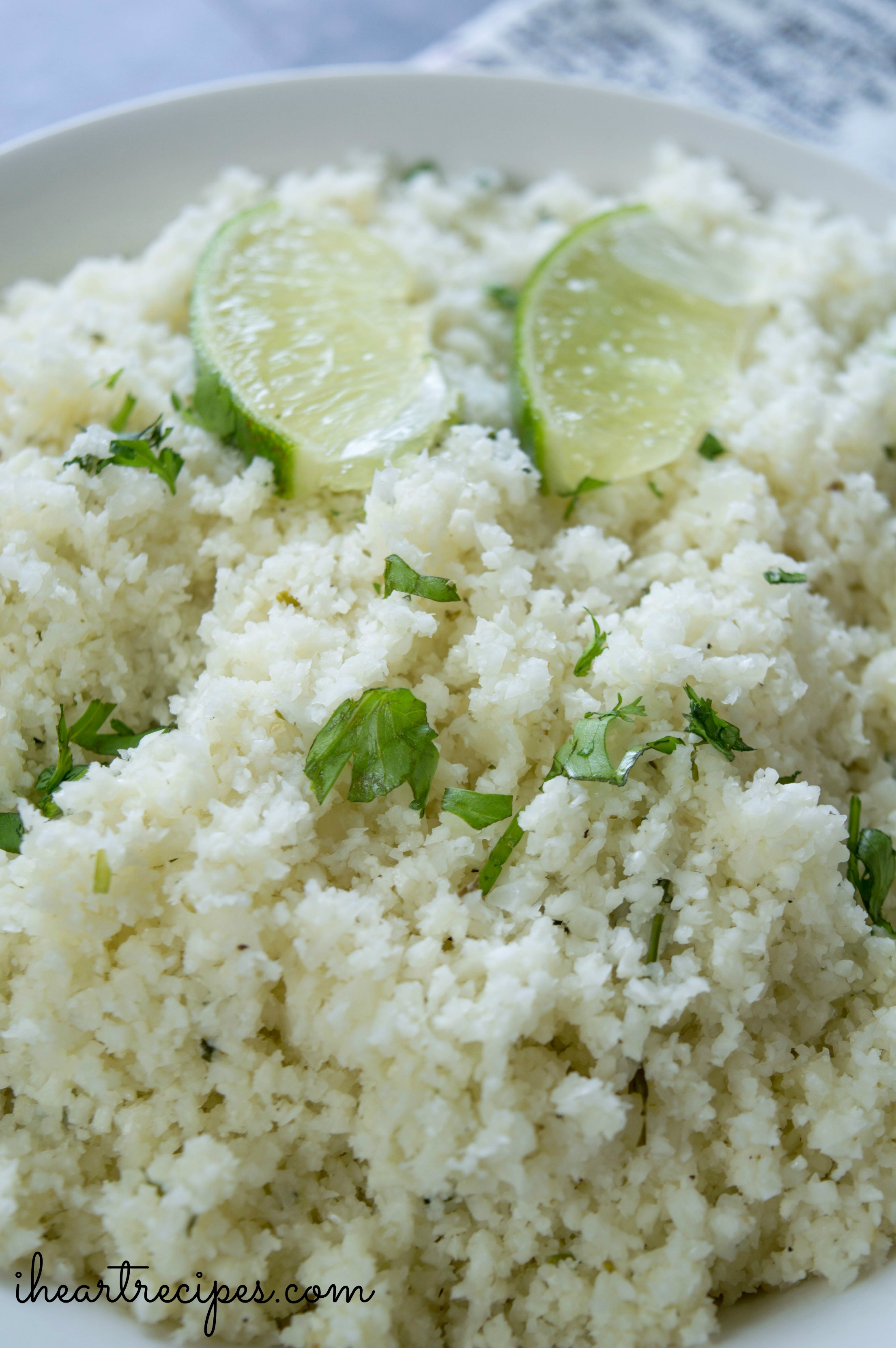 Voila! The perfect dish of cauliflower rice!