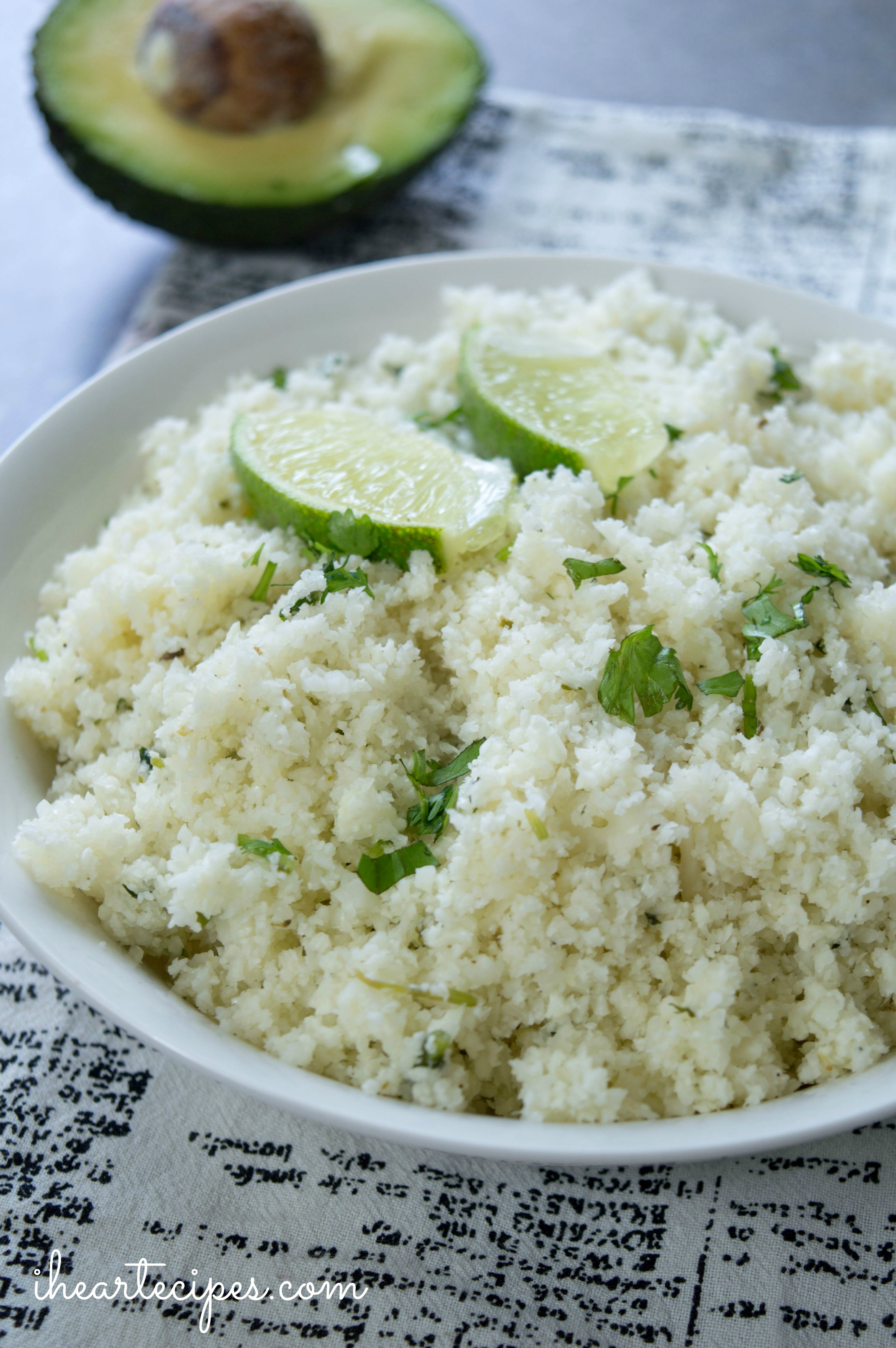 Try cilantro lime cauliflower rice!