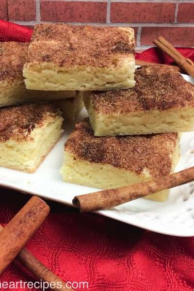 Chewy Snickerdoodles Bars