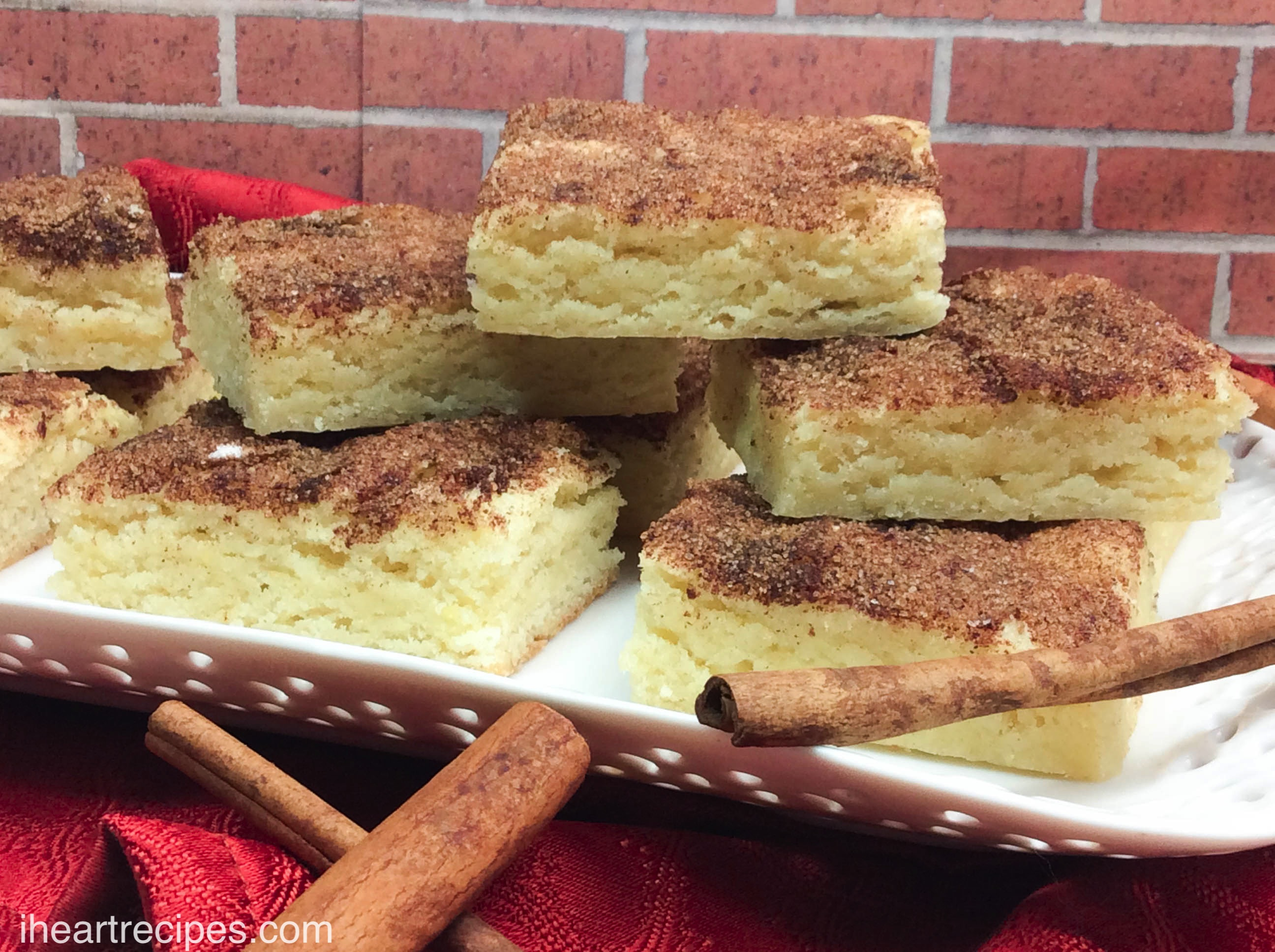 Snickerdoodle Cookie Bars Recipe | I Heart Recipes