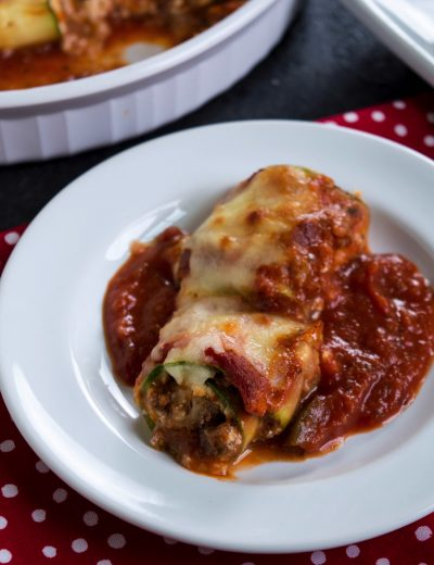 Zucchini Lasagna Roll Ups with Beef & Ricotta