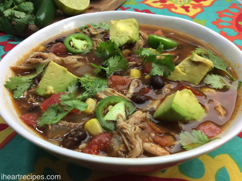 Tex Mex Chicken Soup  | I Heart Recipes