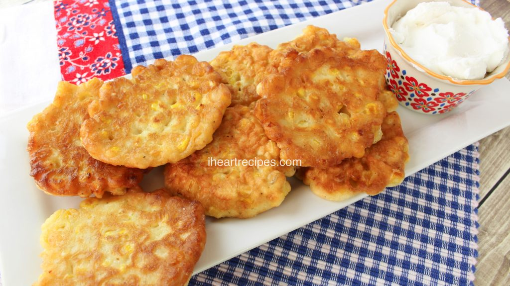 Southern Fried Corn Fritters are great for breakfast, lunch or dinner!