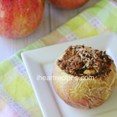 Baked Apples Stuffed with Oatmeal