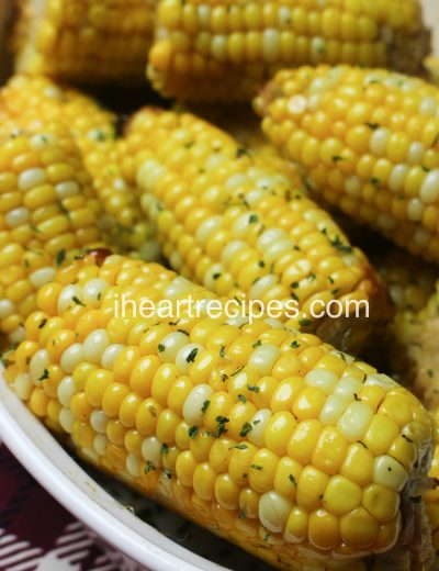 Corn on the cob oven baked