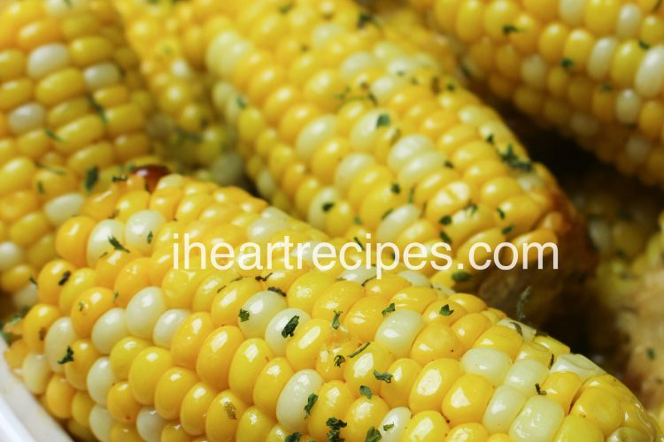 Oven Baked Corn On The Cob