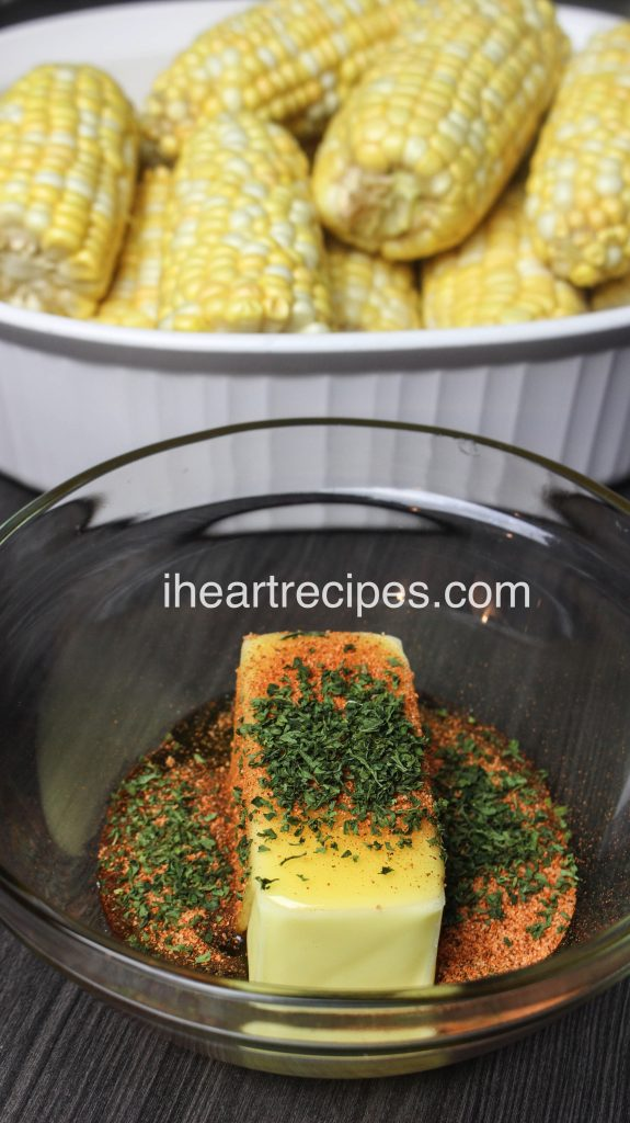 Drizzle warm honey butter over these Oven Baked Corn on the Cob for a mouth-watering side.