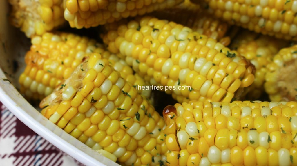 Oven Baked Corn on the Cob is simple and quick.