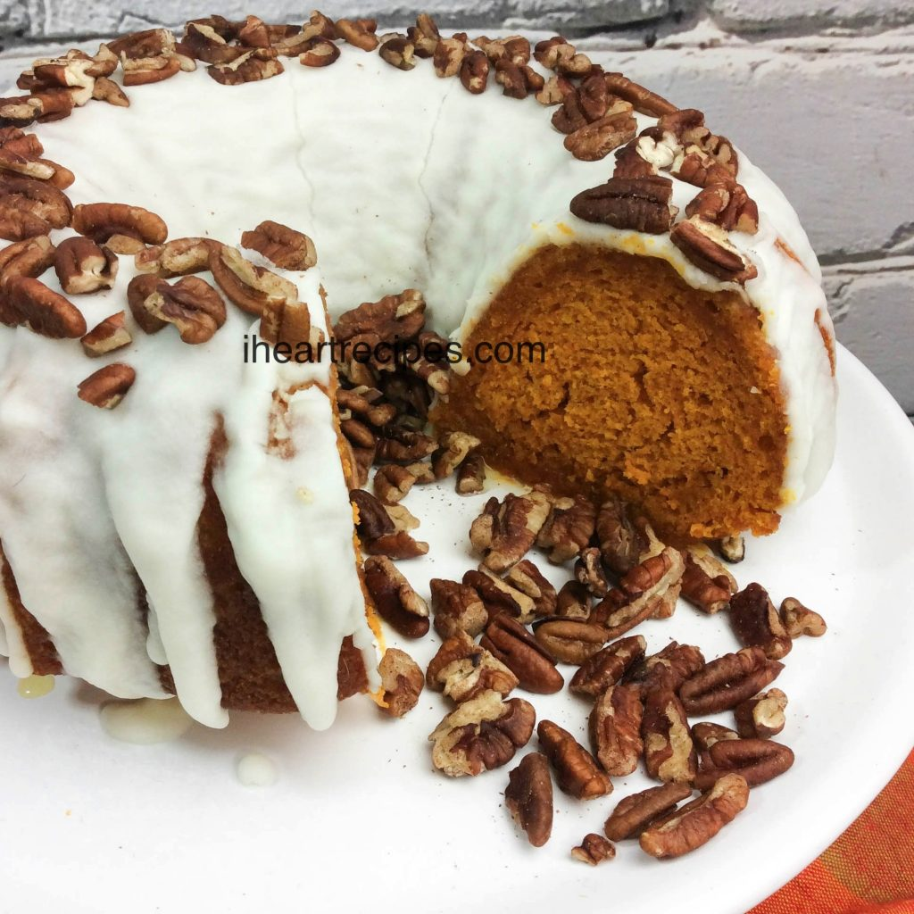 Take a break from pie and try this pumpkin bundt cake!