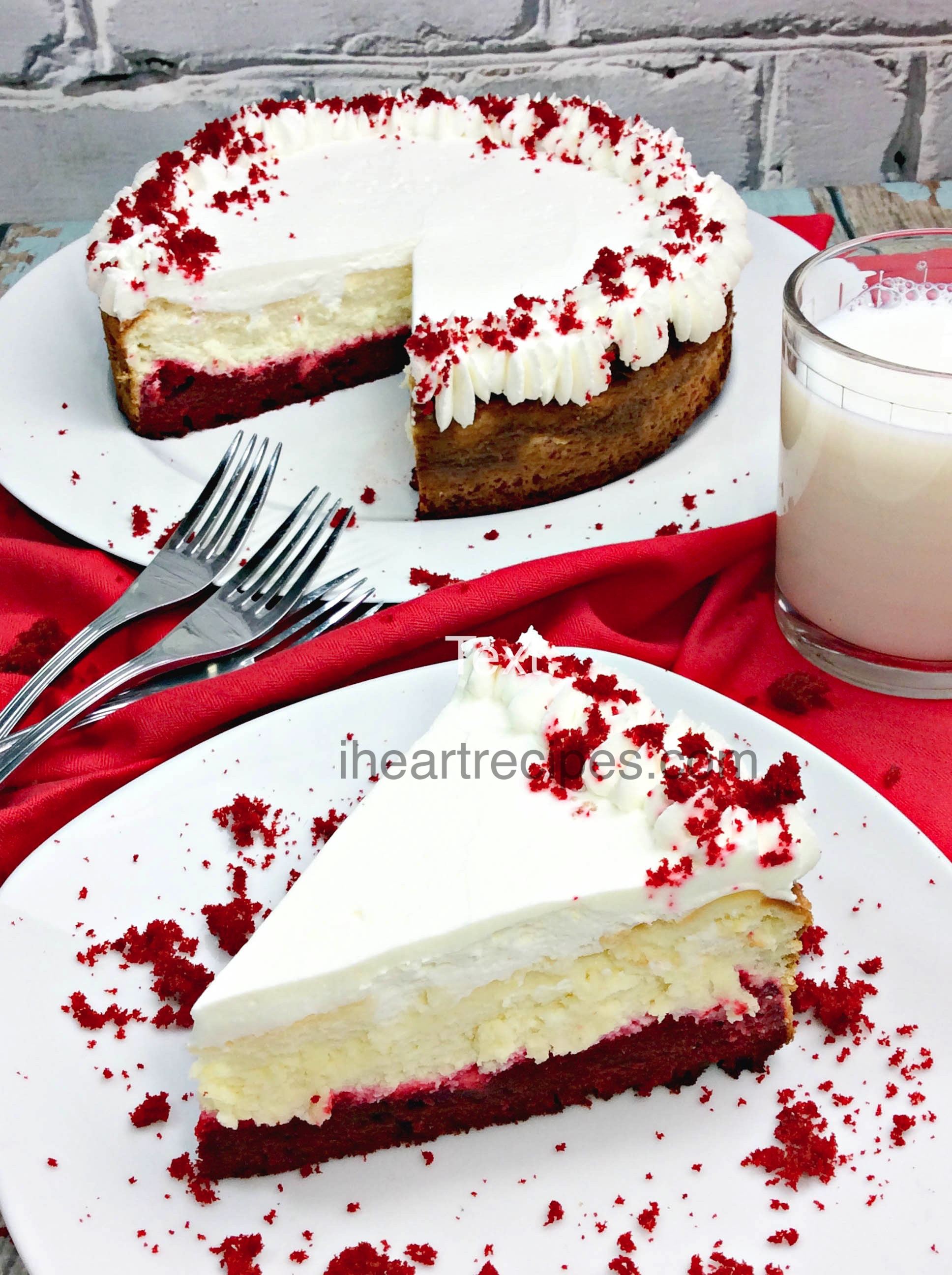 Red Velvet Cheesecake Recipe | I Heart Recipes