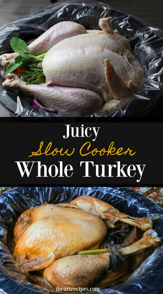 Learn how to cook a juicy slow cooker whole turkey here on iheartrecipes.com