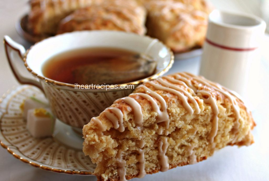 These homemade maple scones pair perfectly with a cup of coffee or tea