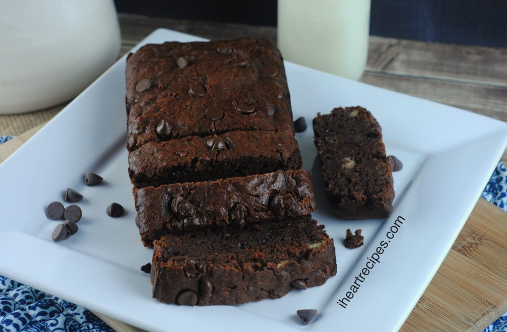 This Moist Chocolate Banana Bread would be a yummy addition to any brunch buffet!