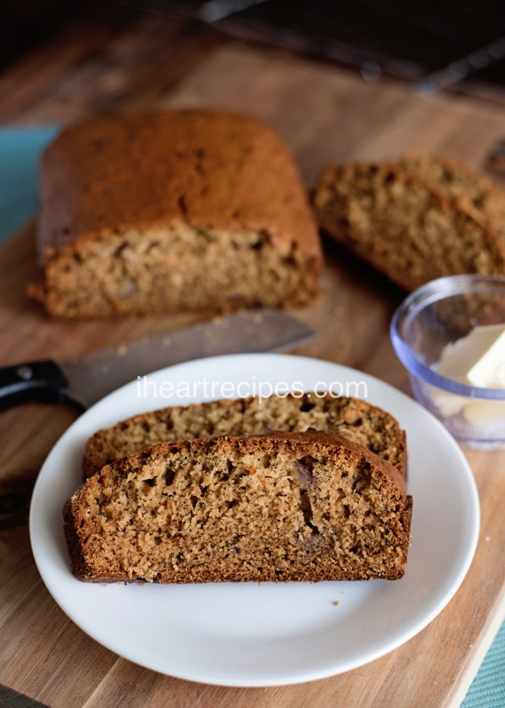 This sweet banana bread recipe is simple and delicious