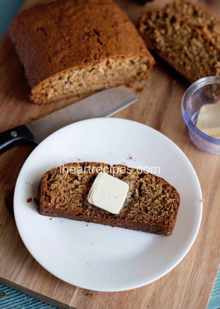 You don't need to add anything but butter to this delicious, simple banana bread