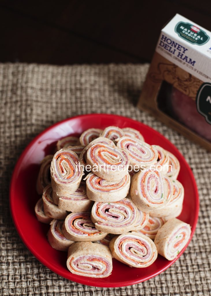 These Italian Pinwheel Finger Sandwiches are quick to whip up!