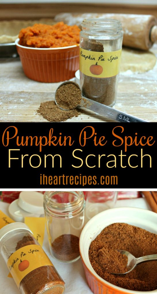Homemade Pumpkin Pie Spice | I Heart Recipes