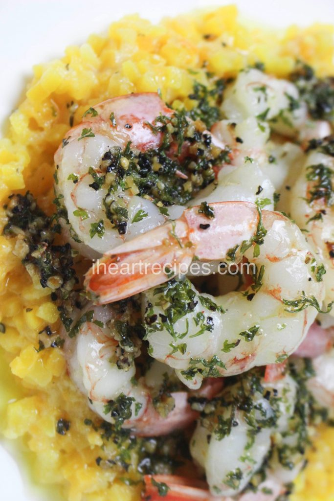 Tender shrimp sauteed in a savory garlic butter