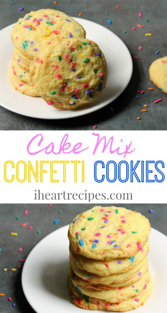 Cake Mix Confetti Cookies are an easy, sweet treat!