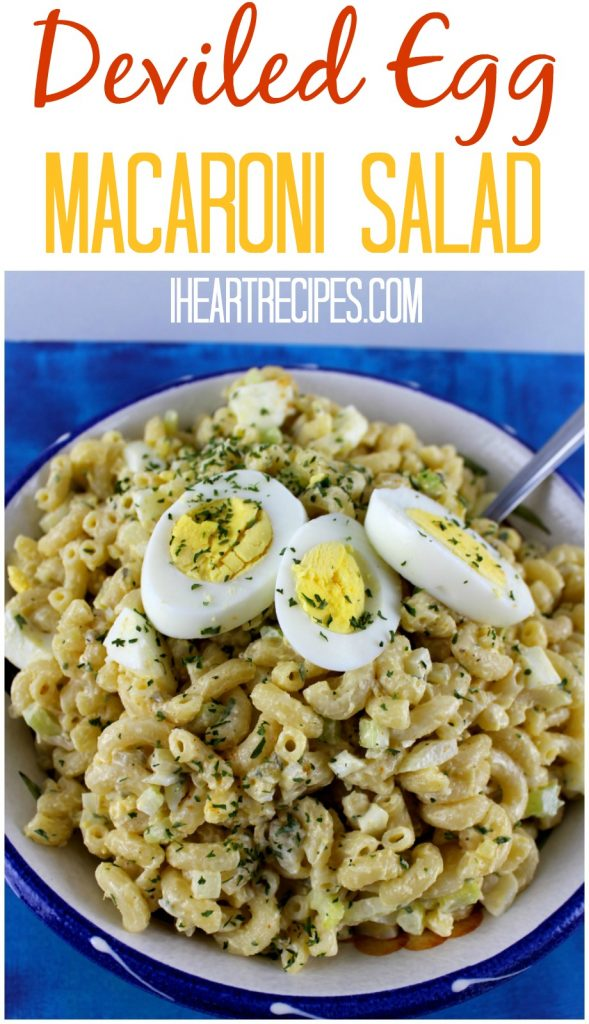 Deviled Egg Macaroni Salad is creamy and flavorful!