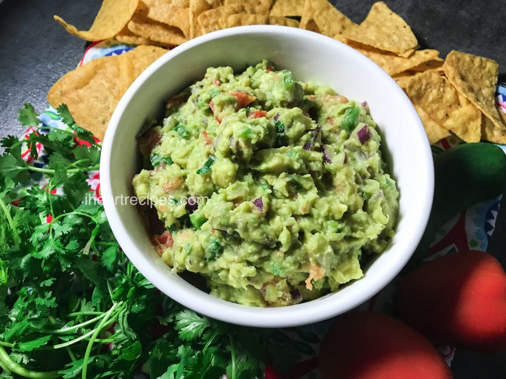 Nothing lights up a party more than a bowl of homemade guacamole! This simple recipe is made with fresh ingredients and comes together in only a few minutes.