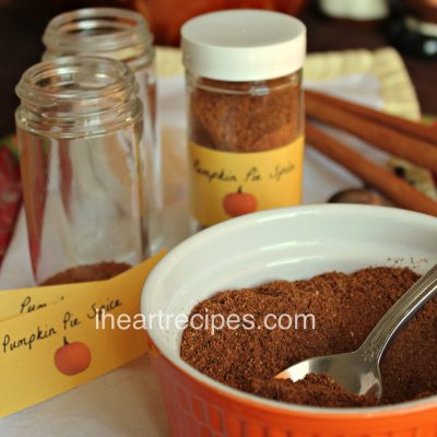 Pumpkin Pie Spice from scratch