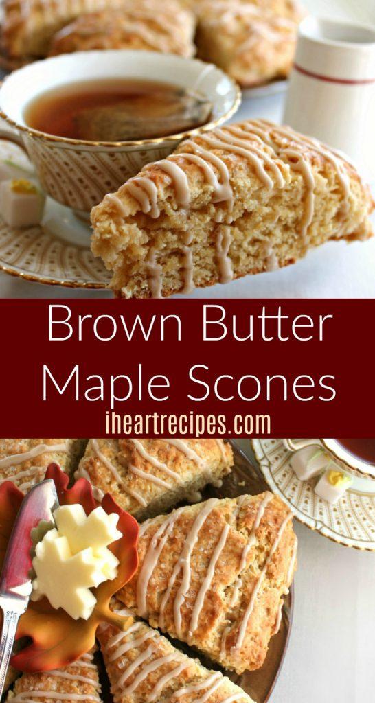 Homemade Brown Butter Maple Scones Recipe