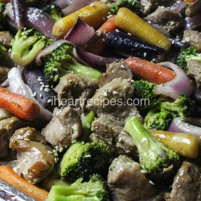 EasySheet Pan Pork & Vegetable Teriyaki