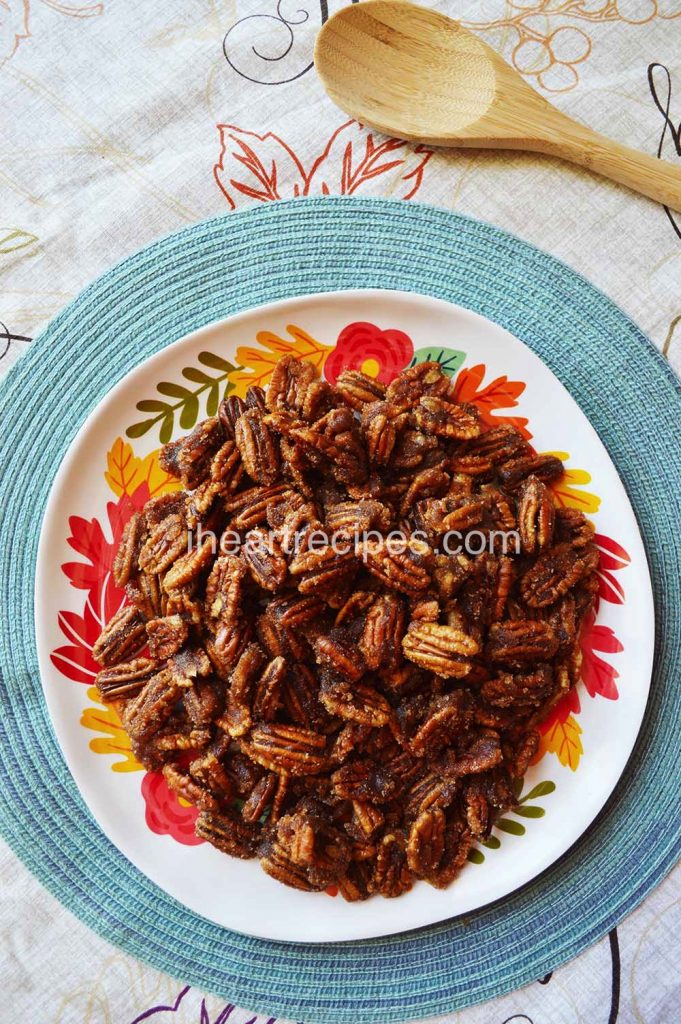 The perfect snack or topper, try these Candied Pecans!