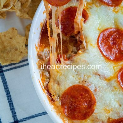 Baked Pepperoni & Sausage Pizza Dip