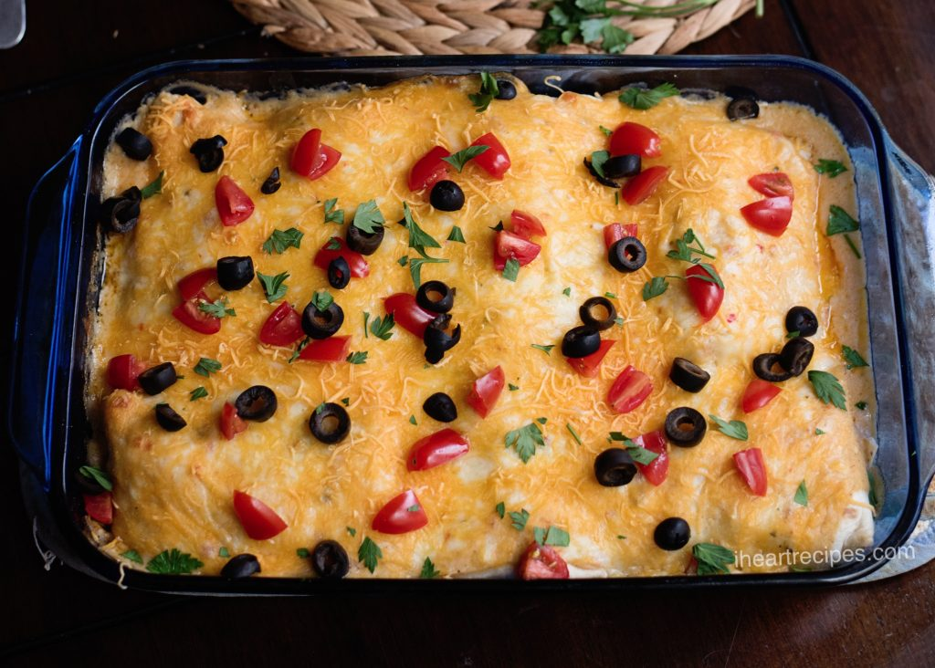 Enchiladas for breakfast?! This cheesy goodness is a super easy recipe!