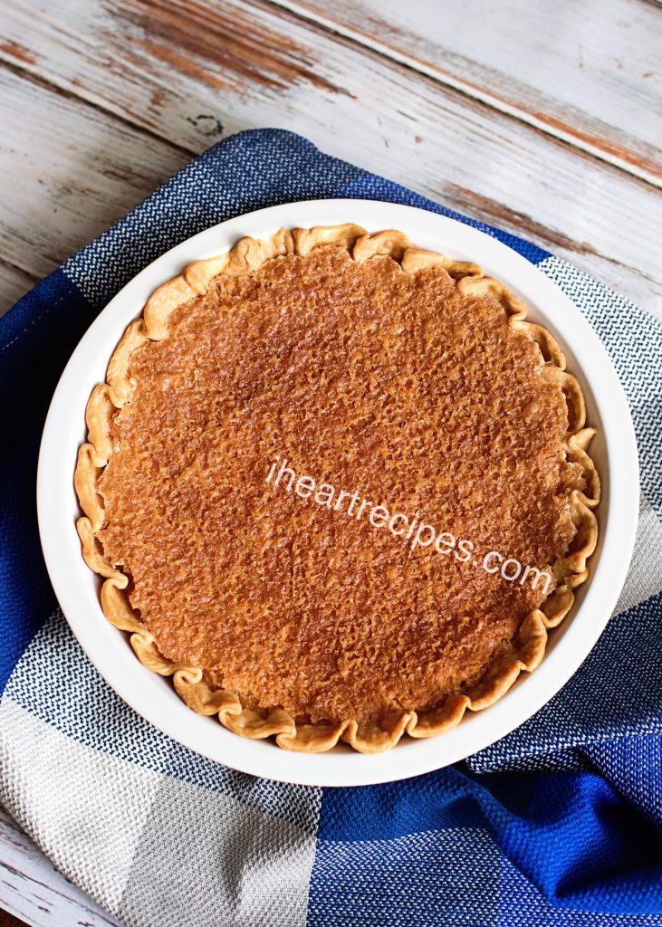 Old Fashioned Chess Pie | I Heart Recipes