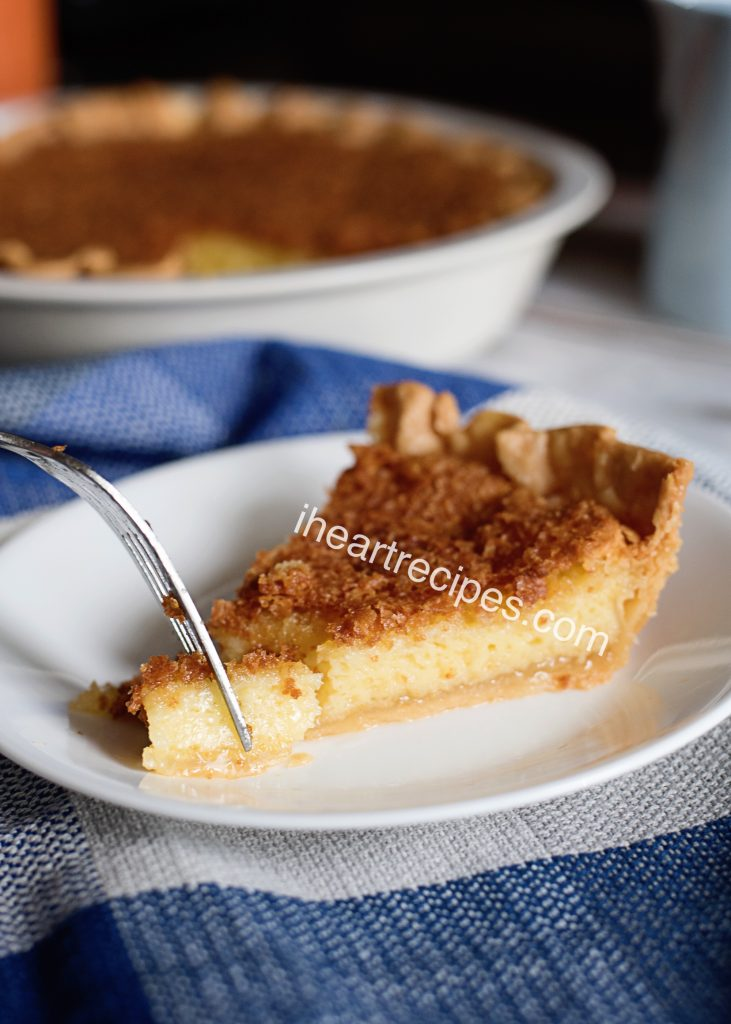 A slice of delicious chess pie