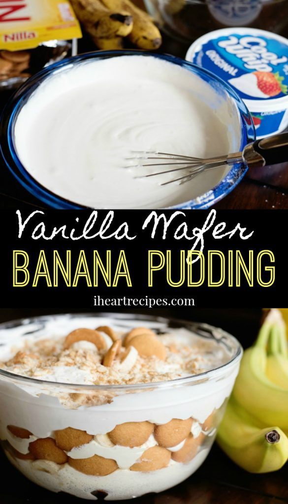 Vanilla Wafer Banana Pudding | I Heart Recipes
