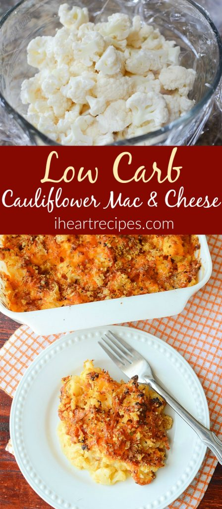 Low Carb Cauliflower Mac and Cheese is a healthy alternative to a classic comfort food.