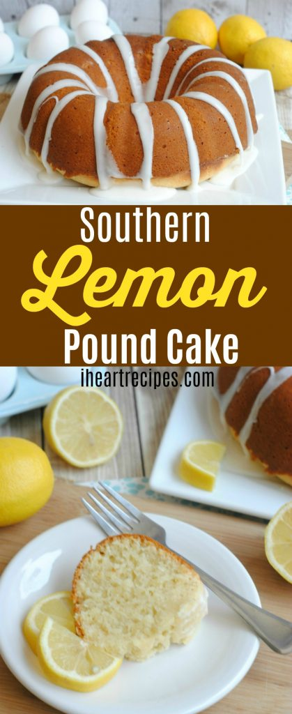 Homemade Southern Lemon Pound Cake Recipe