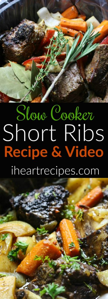 Slow cooker short ribs recipe and video