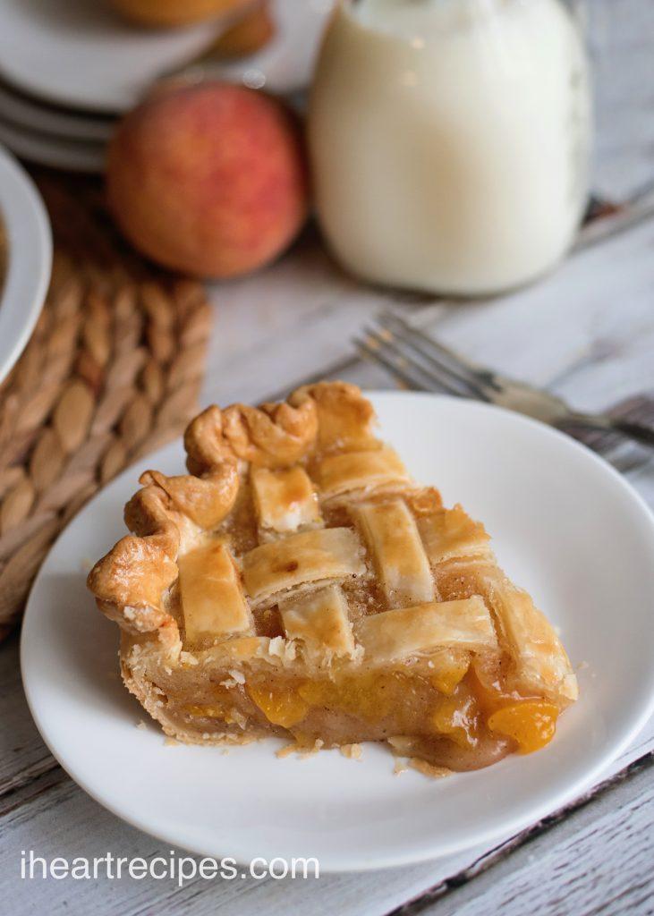 Grandma's Peach Pie | I Heart Recipes
