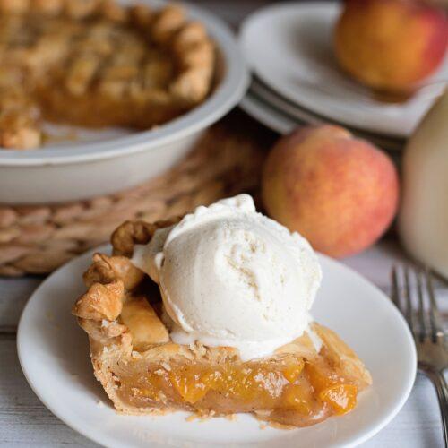Grandma S Peach Pie Recipe I Heart Recipes
