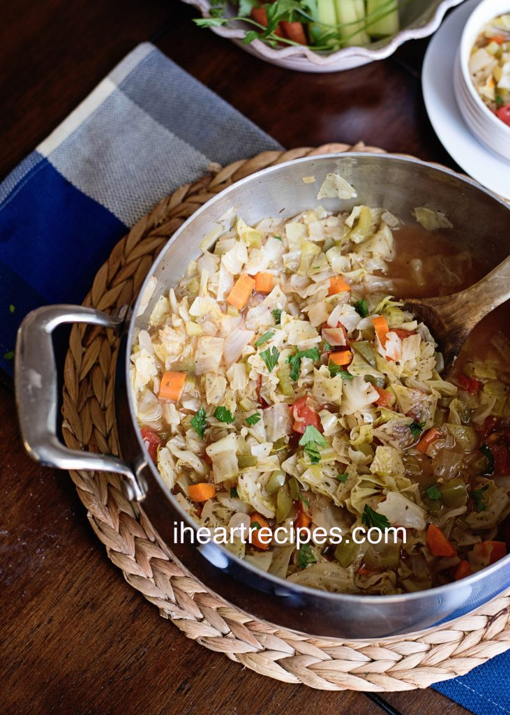 cabbage soup from I Heart Recipes