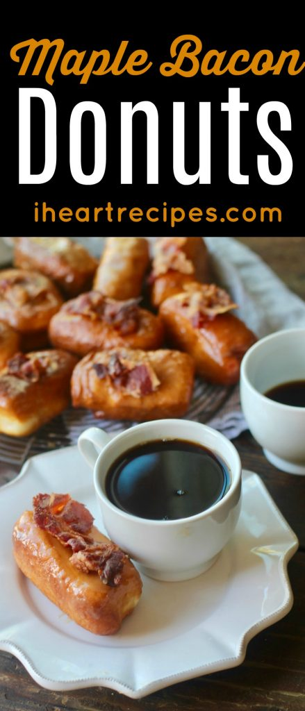 Homemade maple bacon donut recipe from I Heart Recipes
