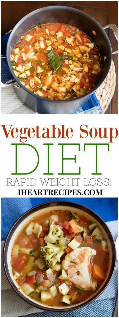7 Day Vegetable Soup Diet I Heart Recipes