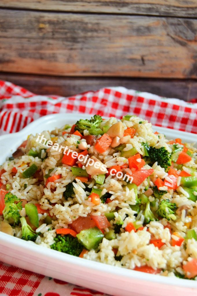 This make-ahead summer rice salad is easy for a summer party or a light, healthy summer lunch