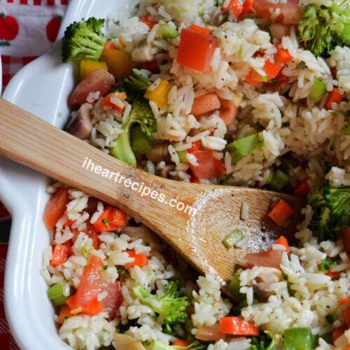 Easy Summer Rice Salad I Heart Recipes
